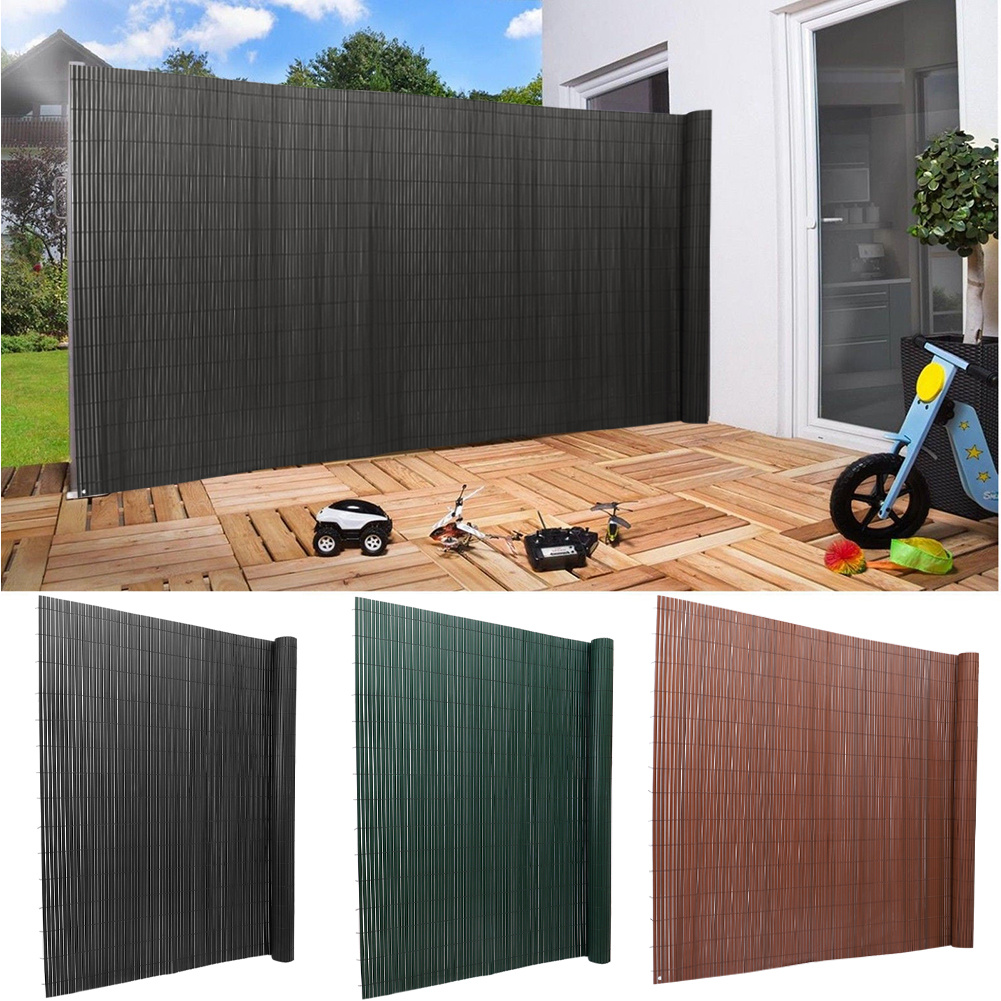 PVC Garden Fence Balcony Bamboo Yellow Privacy Screen Fencing Panels Wall Cover