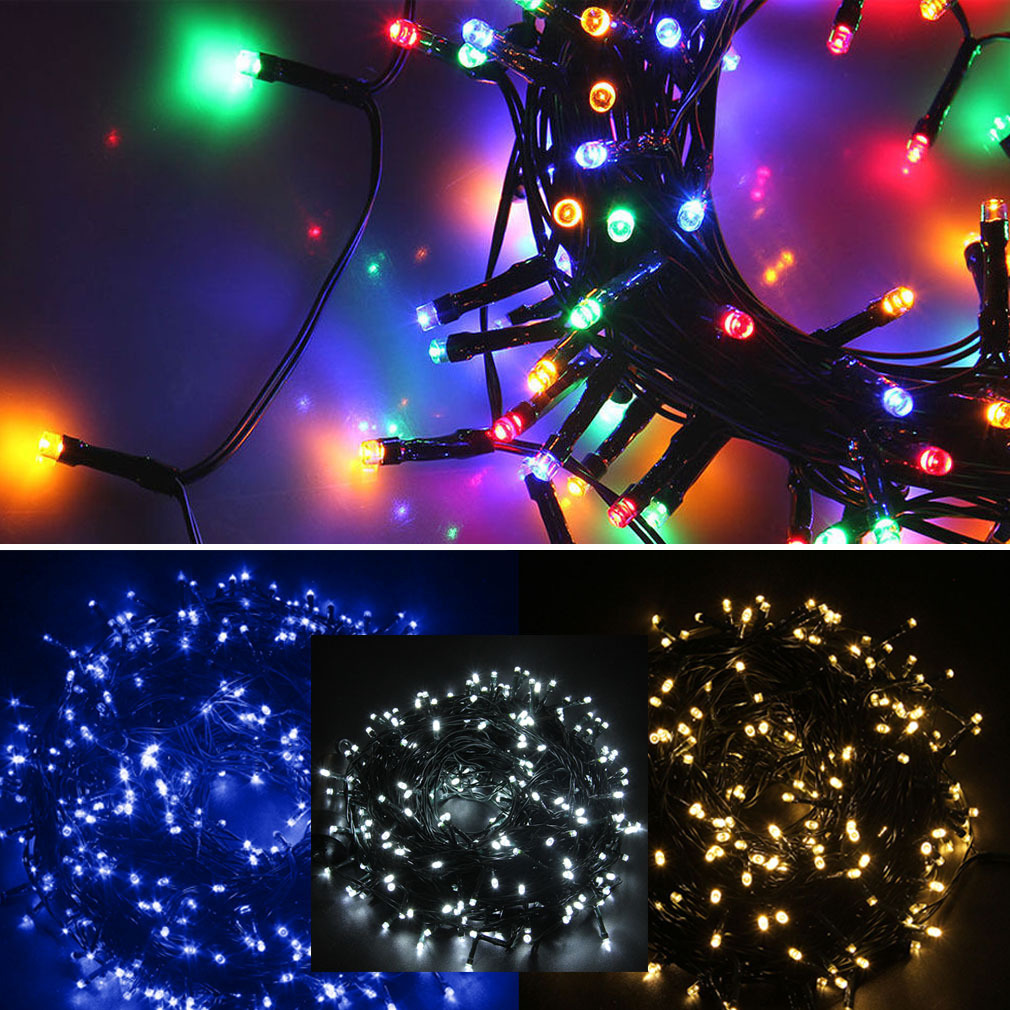 Mains String Garden Lights : Electric Mains 200-400 LED Garden Party Xmas String Fairy Lights In/Outdoor Deck eBay