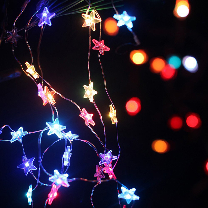 Battery String Lights For Bedroom : 2M 20 Led Star Fairy String Light Battery Operated Bedroom Kitchen Cupboard Home eBay