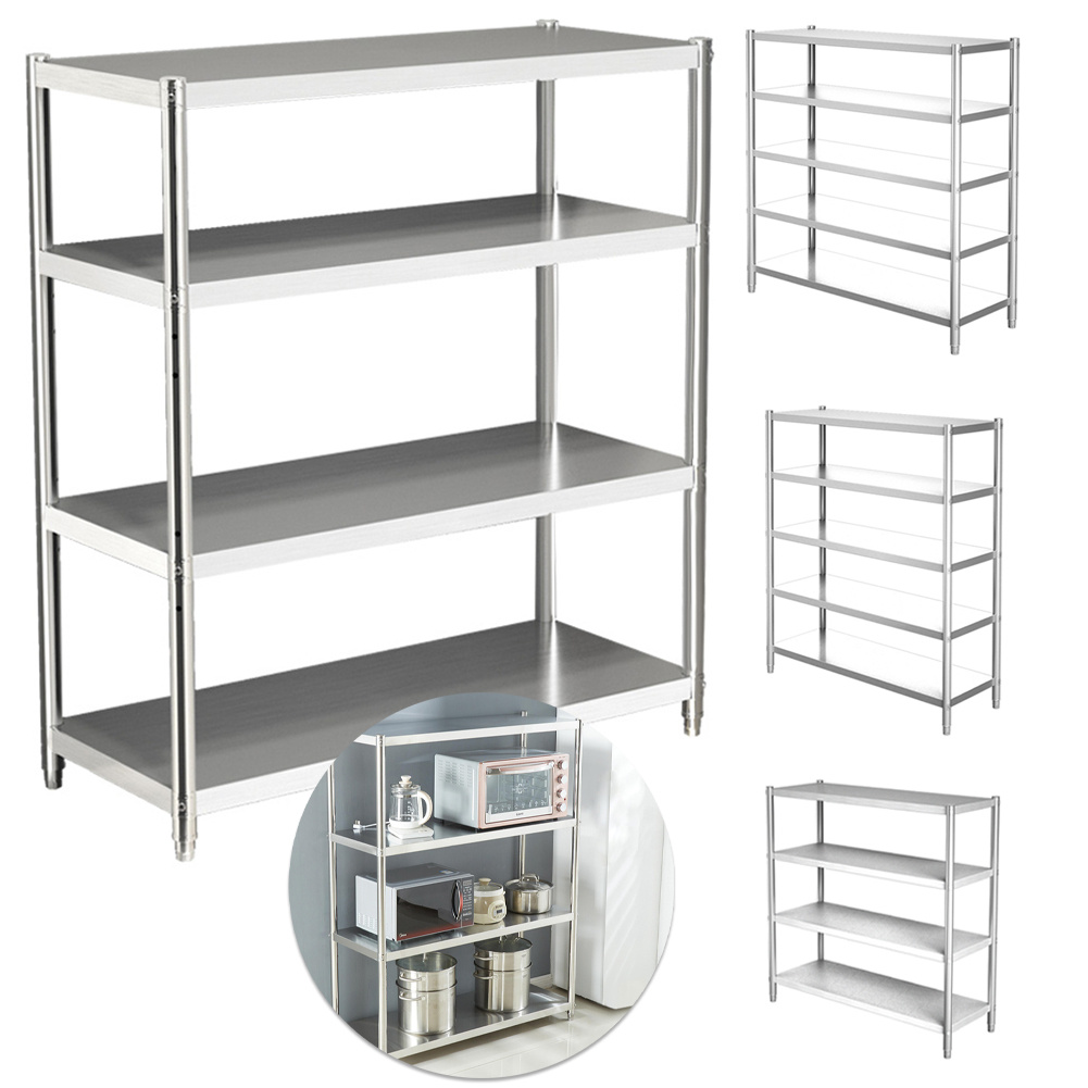 Stainless Steel Shelving Units Commercial Shelf Storage Racks Heavy Duty Kitchen Ebay