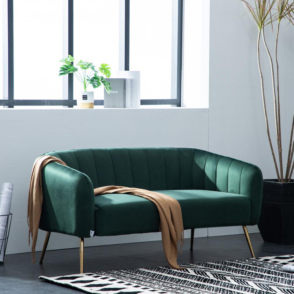 2 Seater Bedroom Sofa: French Metallic Corner Sofa /Occasional Bedroom Chair