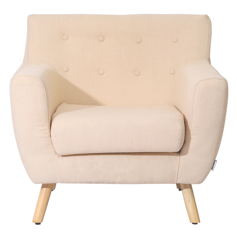 Modern Armchair Linen Fabric Living Room Accent Occasional Chair Single Sofa New