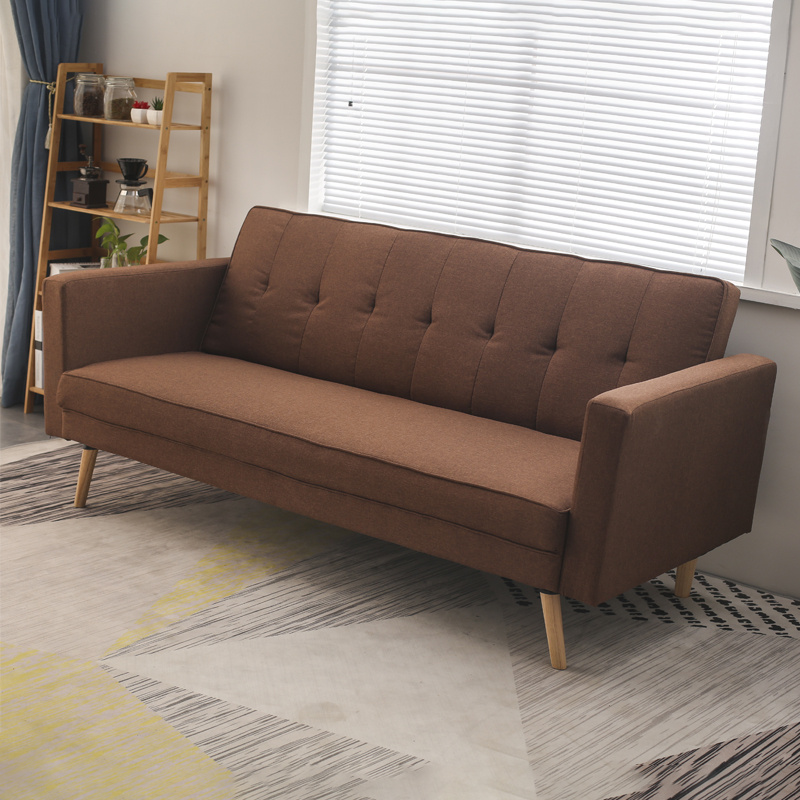 Details About Coffee Fabric 3 Seater Sofa Beds Living Room Armchairs Settee 2 In 1