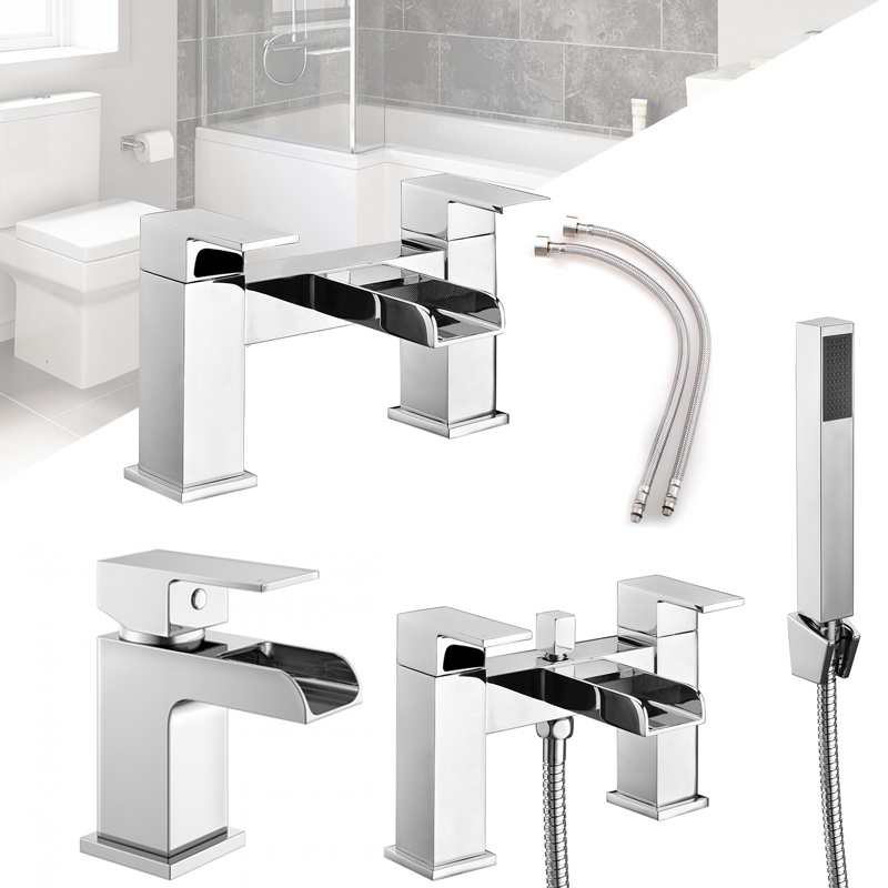 WARMIEHOMY WATERFALL BATHROOM TAP SET BASIN MONO, BATH FILLER, BATH ...