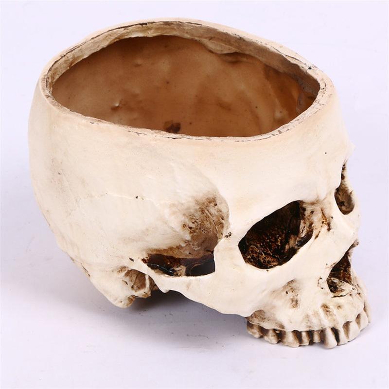 Blumentopf DEKO Dekoration Tattoo Gothic Totenkopf Spardose Schädel Ring Skull