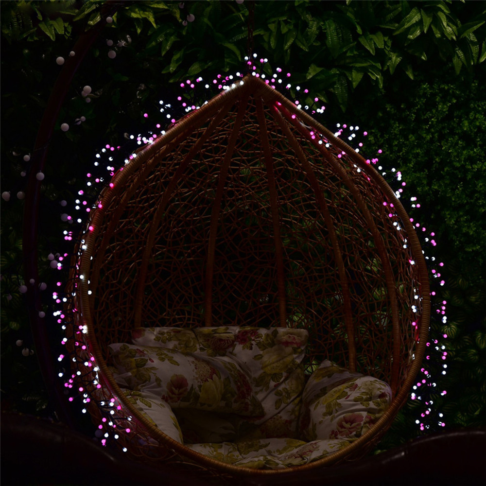 Berry Christmas Tree Lights: Cluster 400 LED Berry Christmas Garden Party String Window