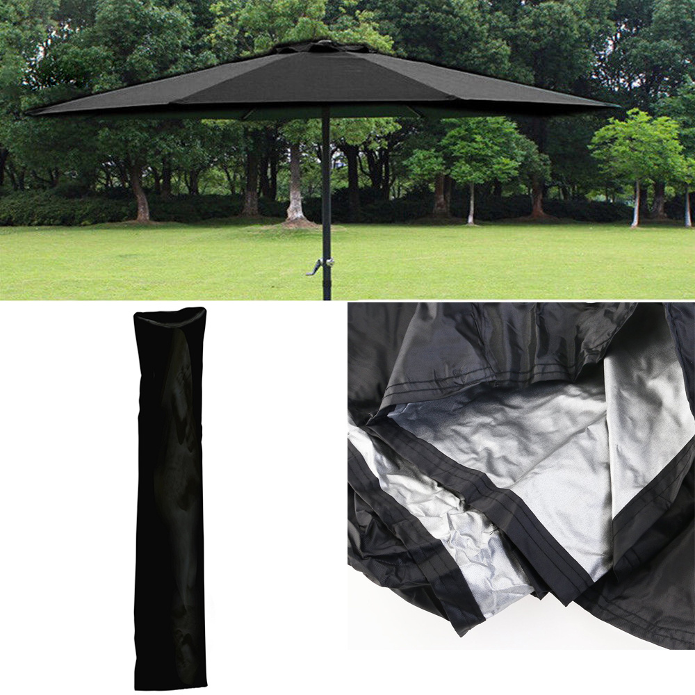 Zip Side Patio Parasol Umbrella Cover Waterproof Garden Furniture Sunshine Ra