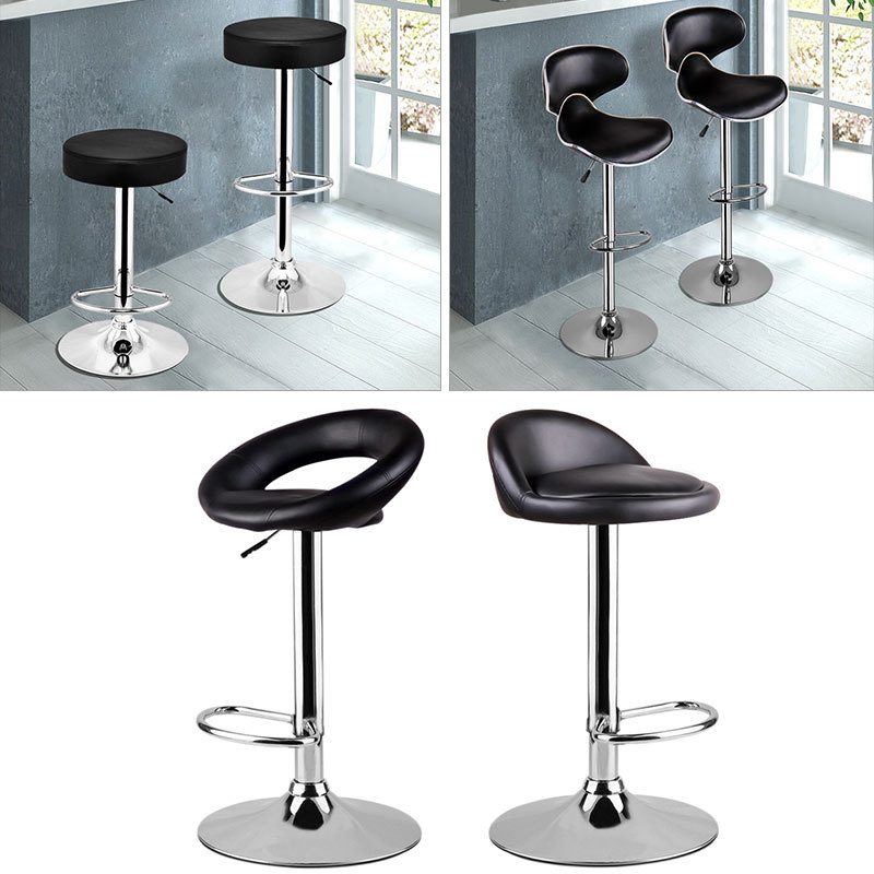 Padded Kitchen Breakfast Bar Stool Swivel Bar Chair Saloon