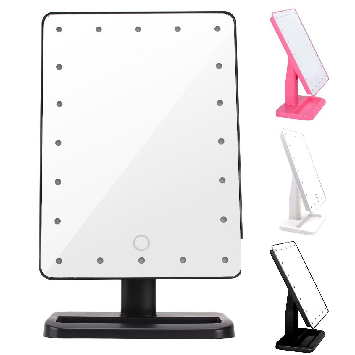 pro makeup mirror touch screen vanity mirror with led lights shaving cosmetic uk ebay. Black Bedroom Furniture Sets. Home Design Ideas