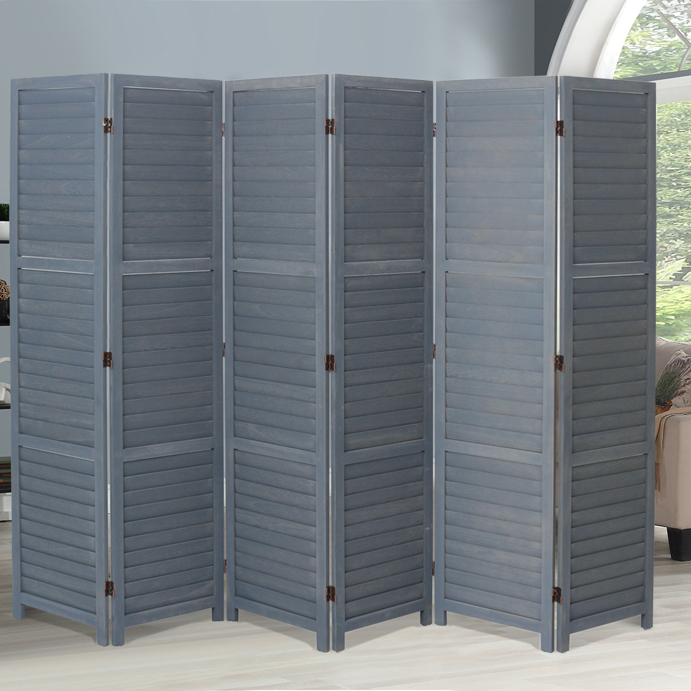 Room Divider Privacy Screen Separator Partition Wooden Folding Frame 3 4 6 Panel Ebay