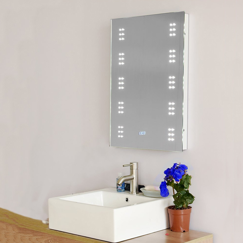 Waterproof LED Bathroom Mirror With Shaver Socket Light
