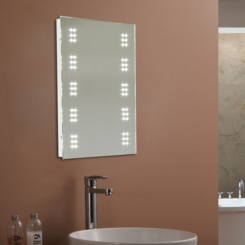 about bathroom illuminated 60 led mirror cabinet storage sensor shaver