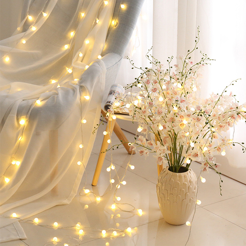 Plug In Selv Berry Balls 100 Fairy String Lights Outdoor