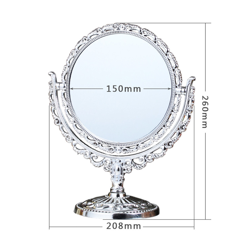 Vintage retro make up mirror bathroom desktop vanity for 7 foot mirror