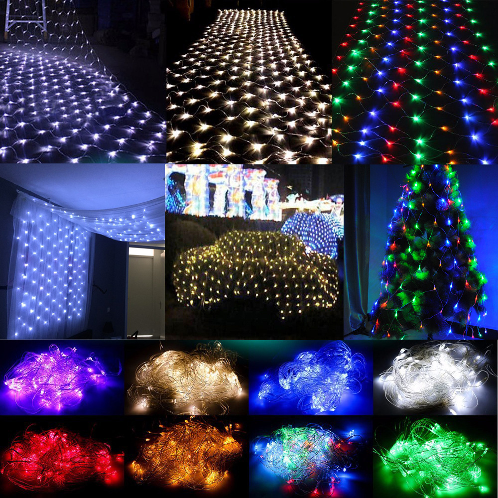 Led Christmas Wall Lights : White 3Mx2M 204 LED Net Mesh Lights Fairy Christmas Tree Party Indoor Wall Light eBay
