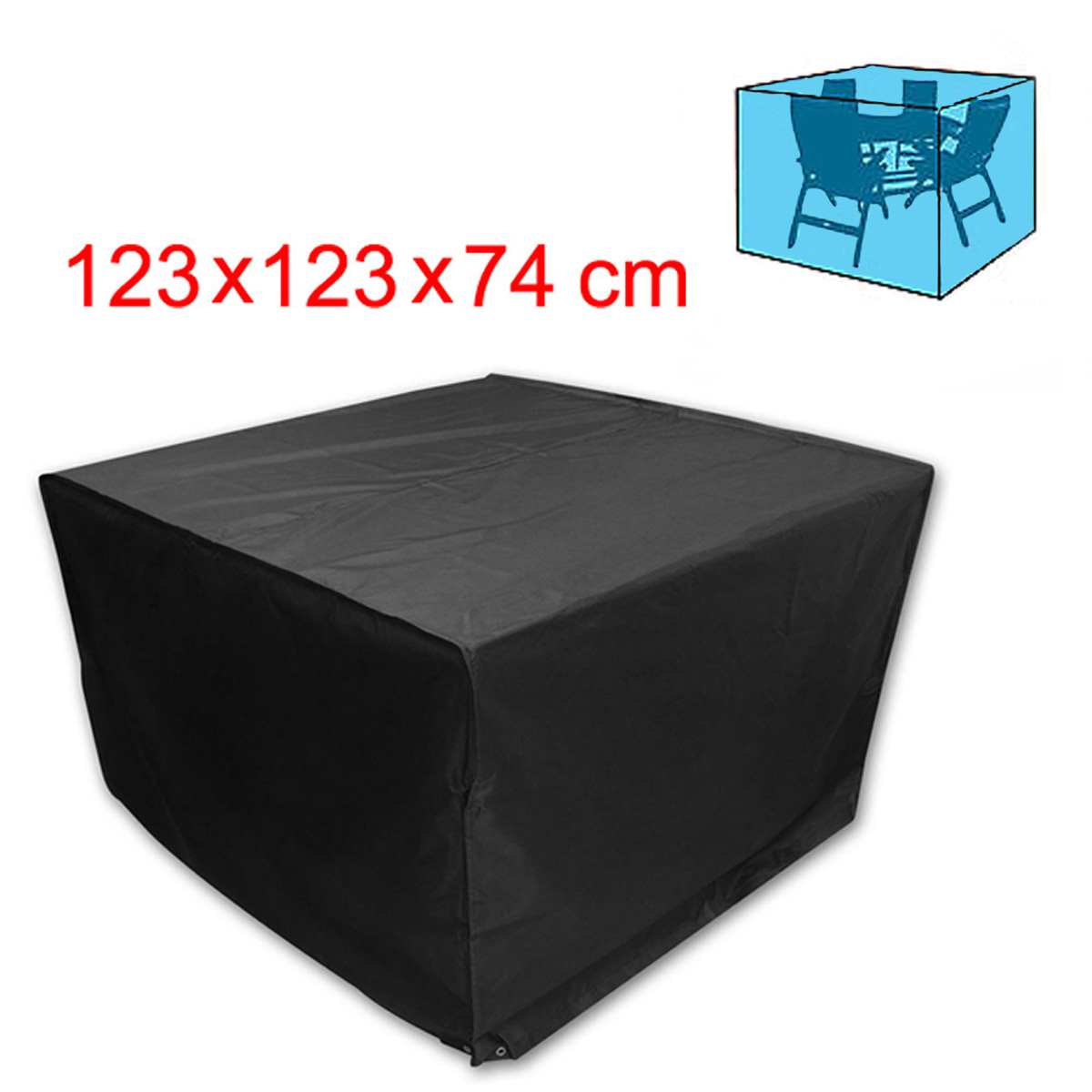 4 seater cube patio set rattan wicker garden chair table for Rattan garden furniture seat covers
