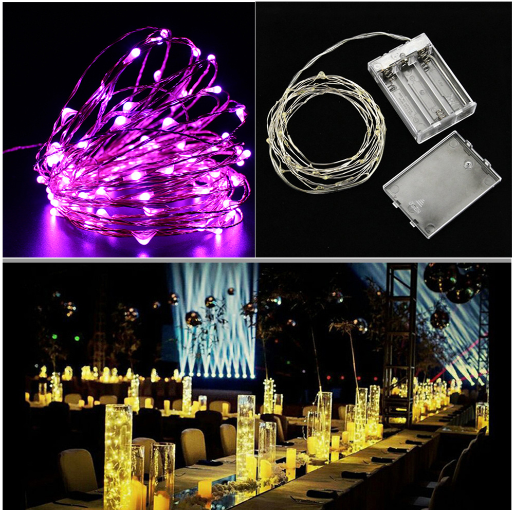 4M Warm White LED Mini Wire Fairy String Battery Lights Bendable Xmas DIY Tree eBay