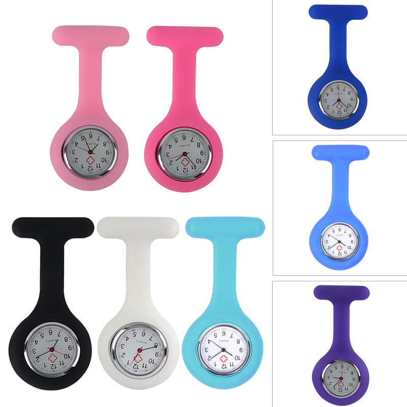 Details about Doctor Nurse Medical Watch Brooch Pin Pocket Clothes Compact Design Free Battery
