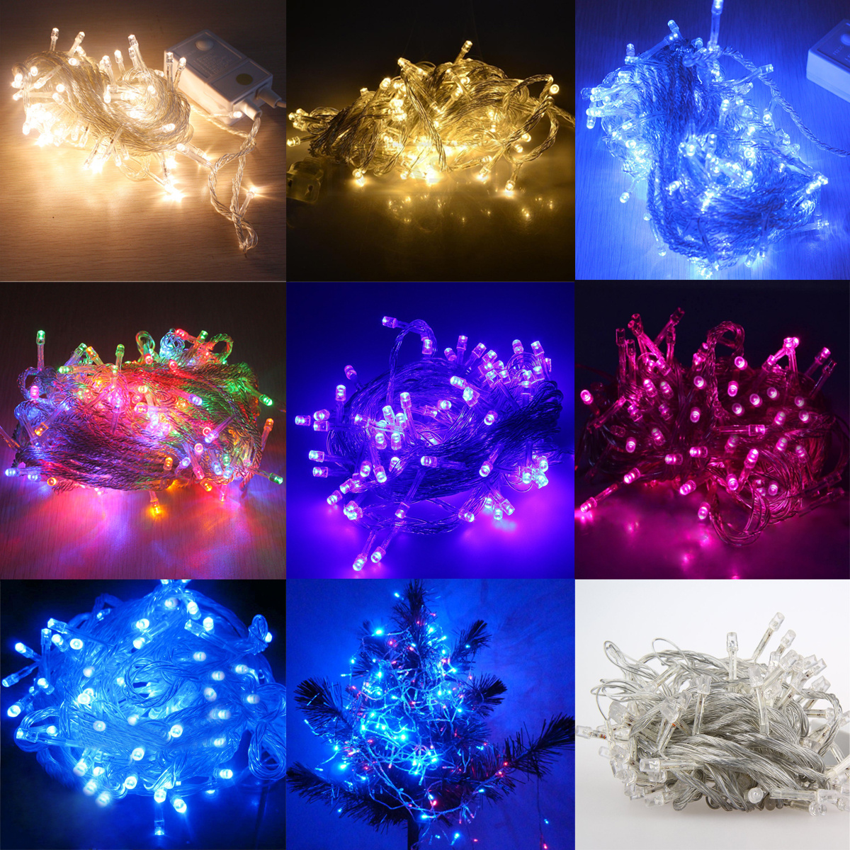 Plug-In Mains 30M 200 LED String Fairy Lights Home Garden Cafe Bar Party Wedding eBay