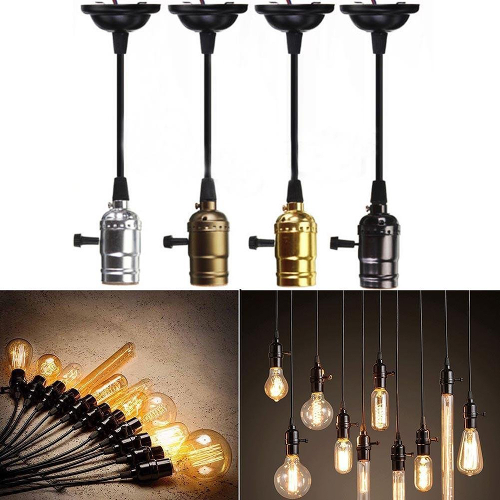 vintage lamp socket e27 bulb edison vintage pendant light. Black Bedroom Furniture Sets. Home Design Ideas