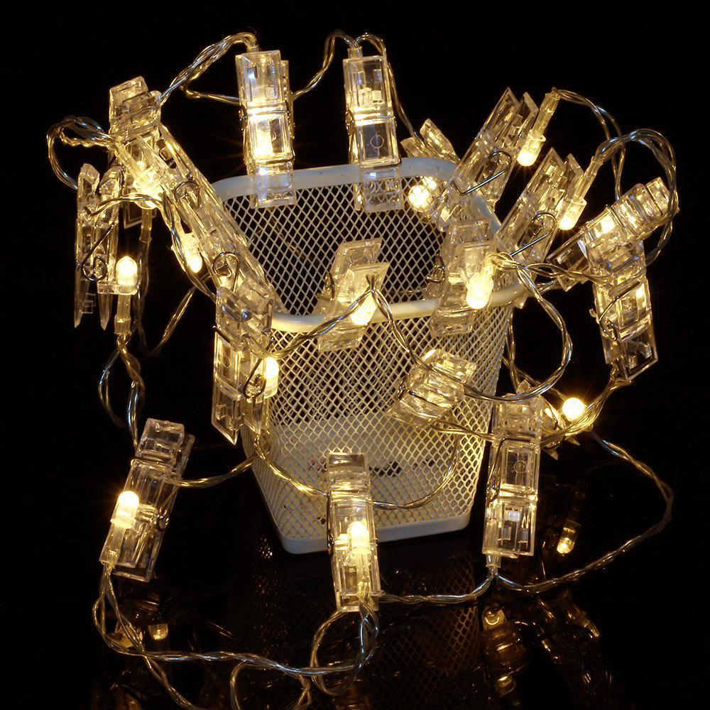 20/40 Led Peg Clip Shape Photo Picture Wedding Decor Hanging Faity String Lights eBay
