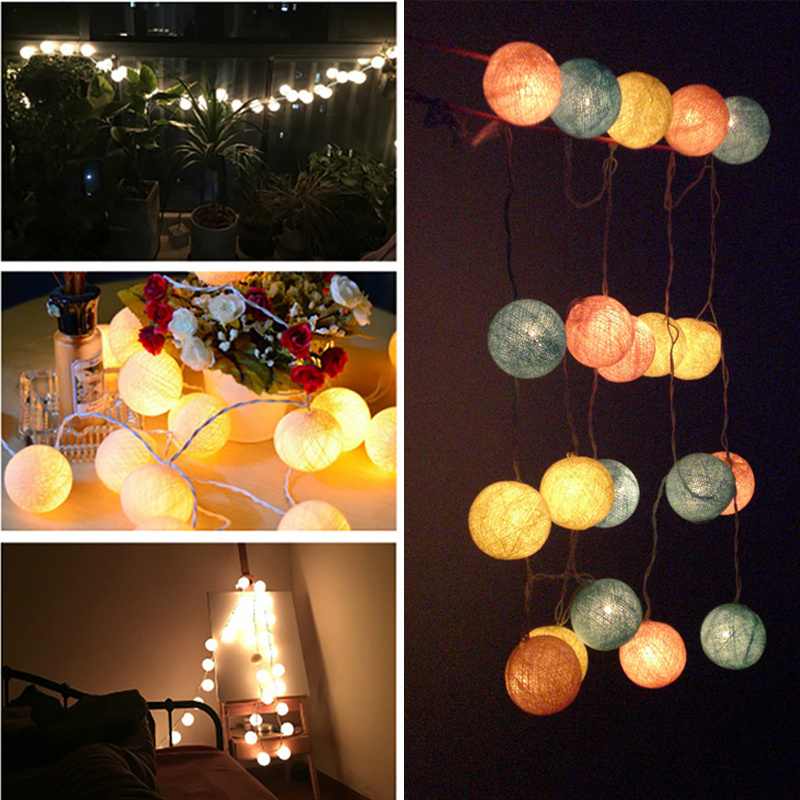 5-Meter Cotton Fairy String Christmas Outdoor Indoor Ball Lights Electric 20 LED eBay