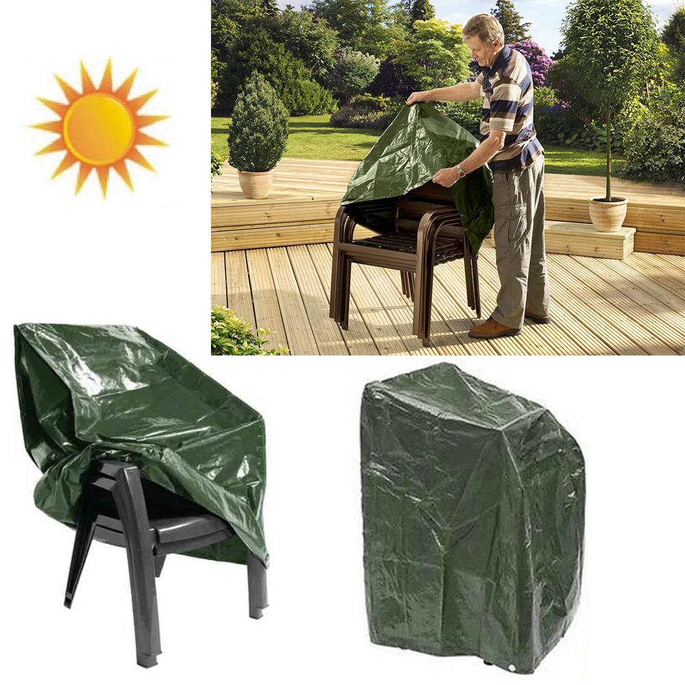 Garden furniture waterproof chair cover outdoor stacking for Chair covers for garden furniture