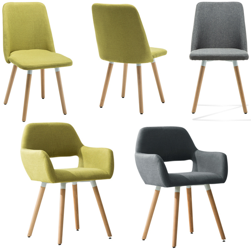 1 4pcs Linen Fabric Accent Arm Chair