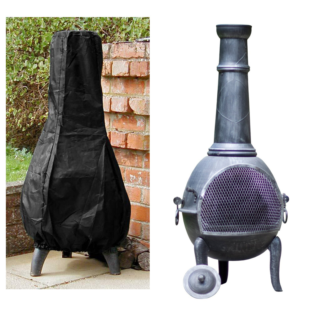 Outdoor Garden Chiminea Fire Pit Cover Protector Weather