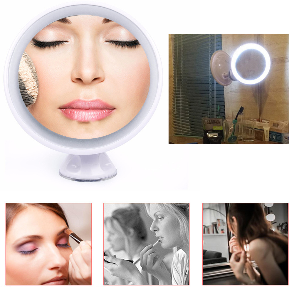 Bathroom Mirror Usb 7x magnifying suction wall mounted make up cosmetic shaving