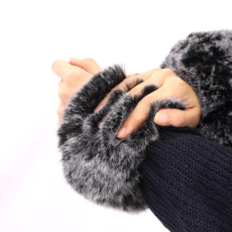 Damen Echt Fox Waschbär Pelz Schal Halstücher Handgelenk Manschette Zubehör Warm