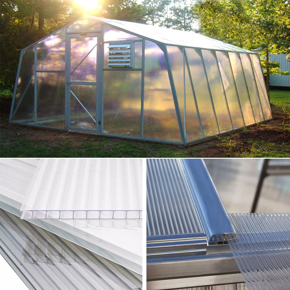 Green house shed perpex plastic cold frames