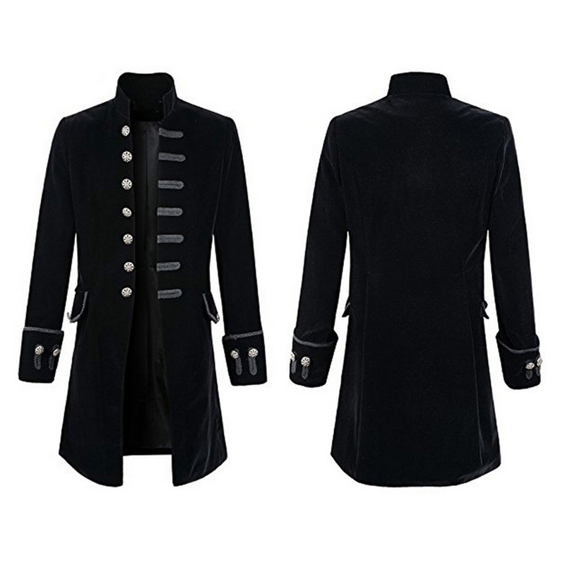 Frock Coat Mens Adult Victorian Costume Accessory Navy Blue Jacket