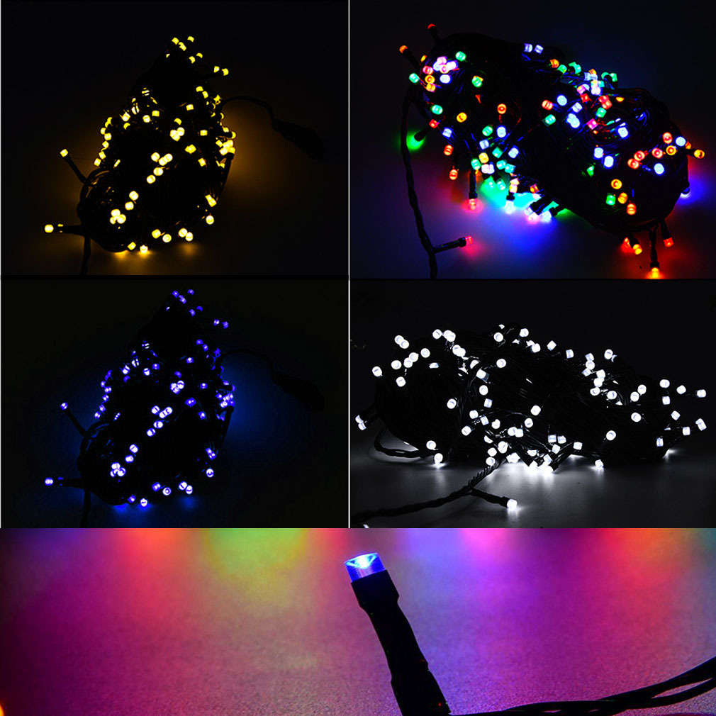 240V Bright LED Lights Fairy Light String For Christmas Wedding Party Green Wire eBay
