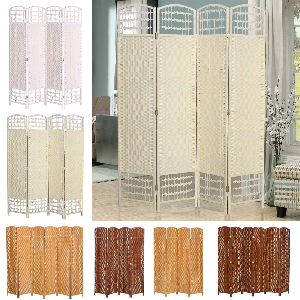 4 6 Panels Wooden Screen Room Divider Foldable Privacy Space Separator Partition Ebay