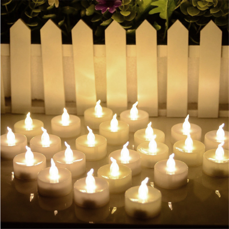 Details about 12 24 Battery Tea Candle Flickering Lights Party Wedding LED  Electric Tealights