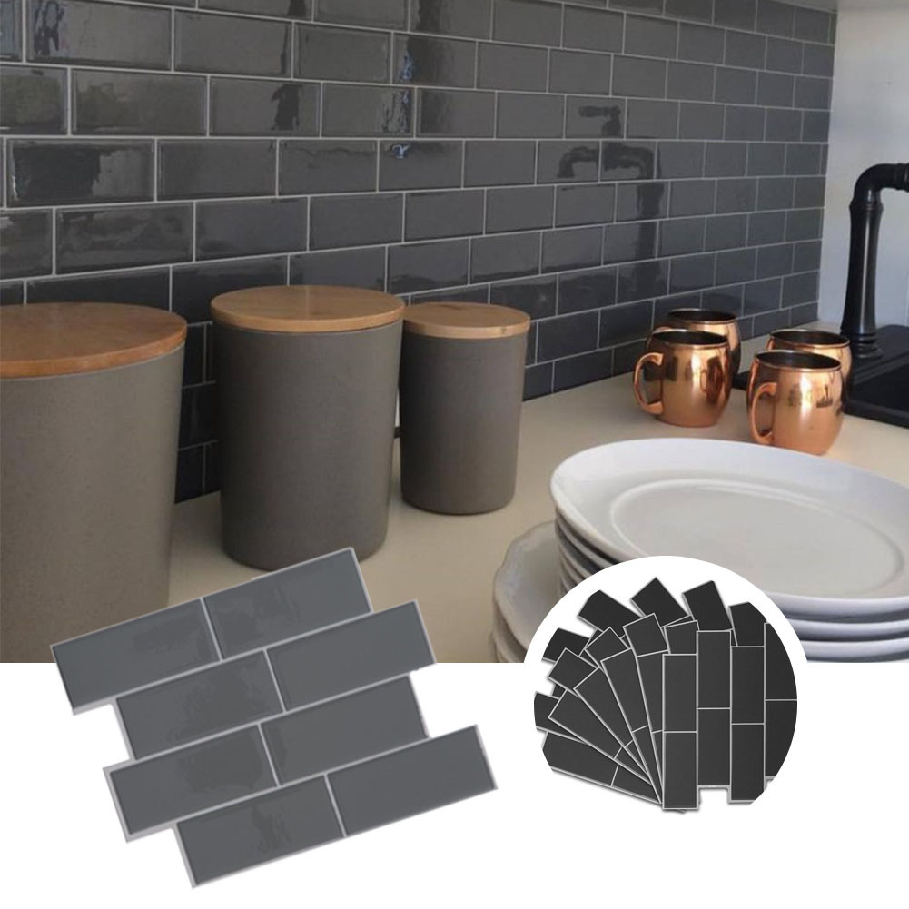 3d Self Adhesive Kitchen Wall Tiles Bathroom Mosaic Tiles Sticker Peel Amp Stick Uk