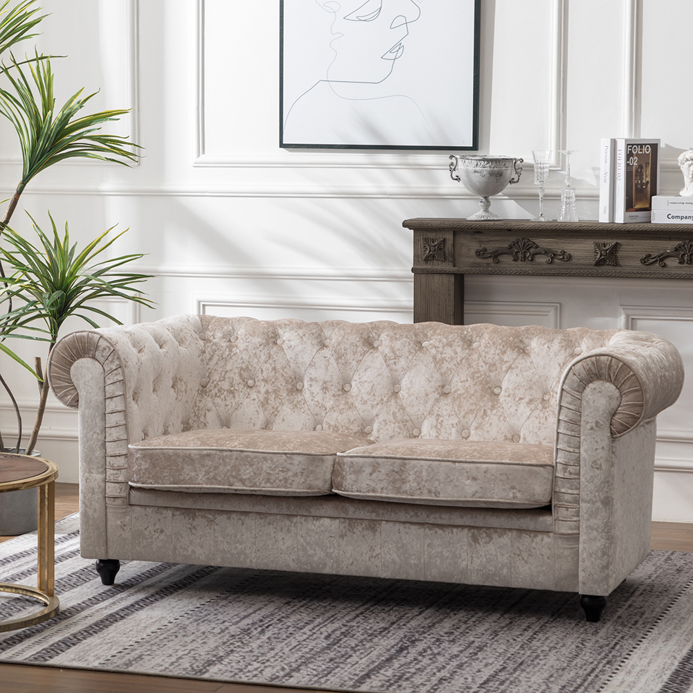 Chesterfield Crushed Velvet Sofa Couch