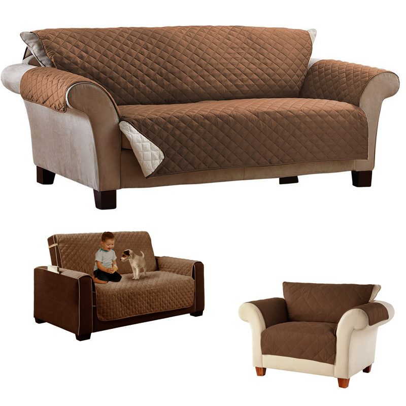 Universal 1 3 Seater Quilted Waterproof Sofa Couch Slip