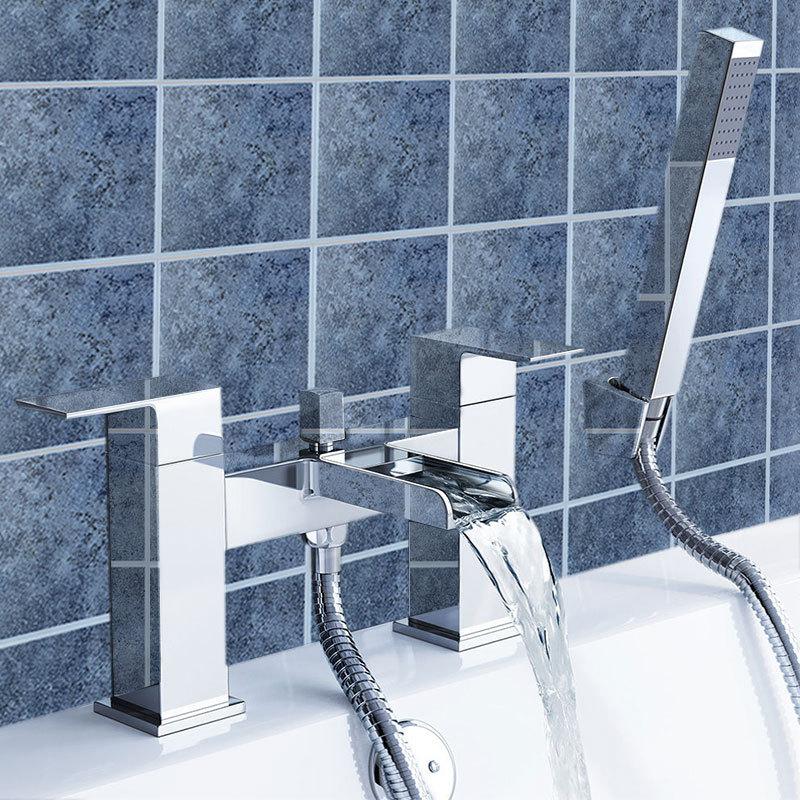WARMIEHOMY WATERFALL BATHROOM TAP SET BASIN MONO, BATH FILLER, BATH ...