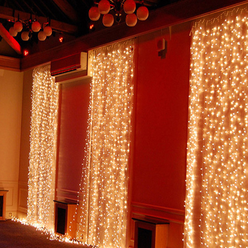 led window curtain icicle lights 8 mode for xmas. Black Bedroom Furniture Sets. Home Design Ideas