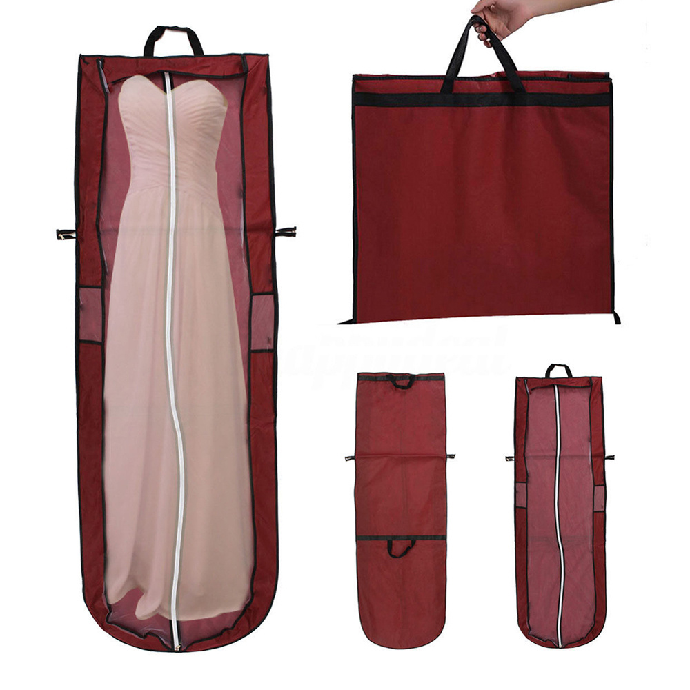 180cm Brautkleider Sack Brautkleidhülle Kleidersack Reisetasche mit Sichtfenster