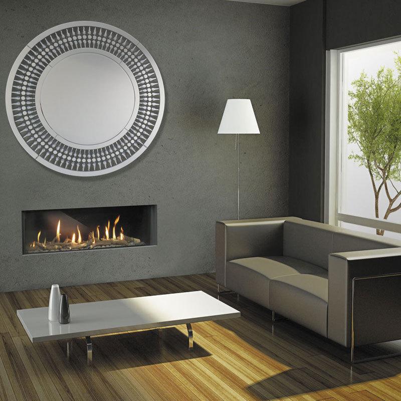 80x80 cm runde art wandspiegel wohnzimmer flur hängen deko