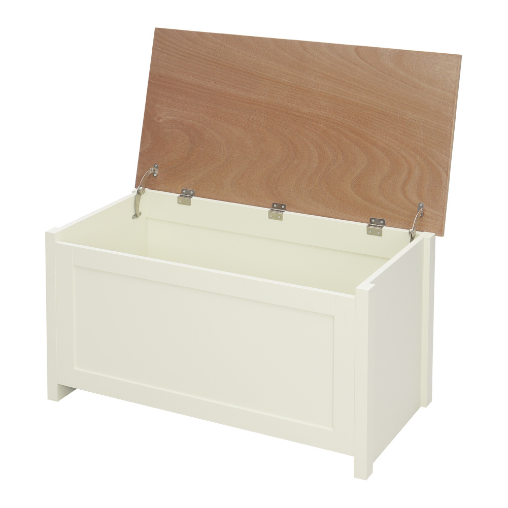 Wooden Ottoman Large Storage Chest Bench Oak Top Toy Bedding Trunk
