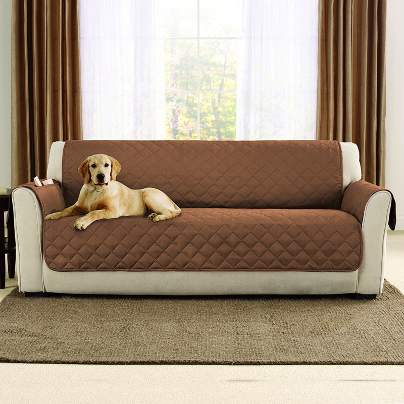 Universal 1 3 Seater Quilted Waterproof Sofa Couch Slip Cover Pets Dog Protector Ebay