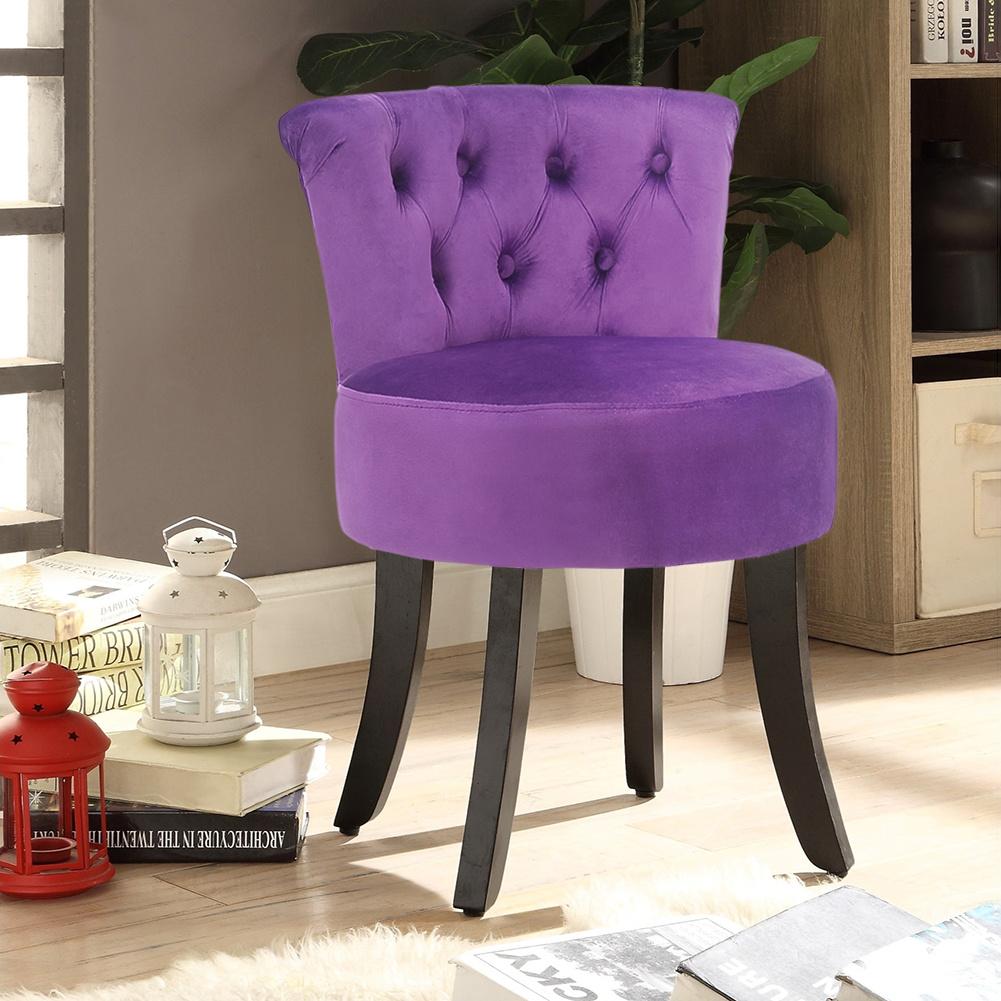 Velvet Stool Dressing Table Pouffe Chair Round//Square Vanity Footstool Seat UK