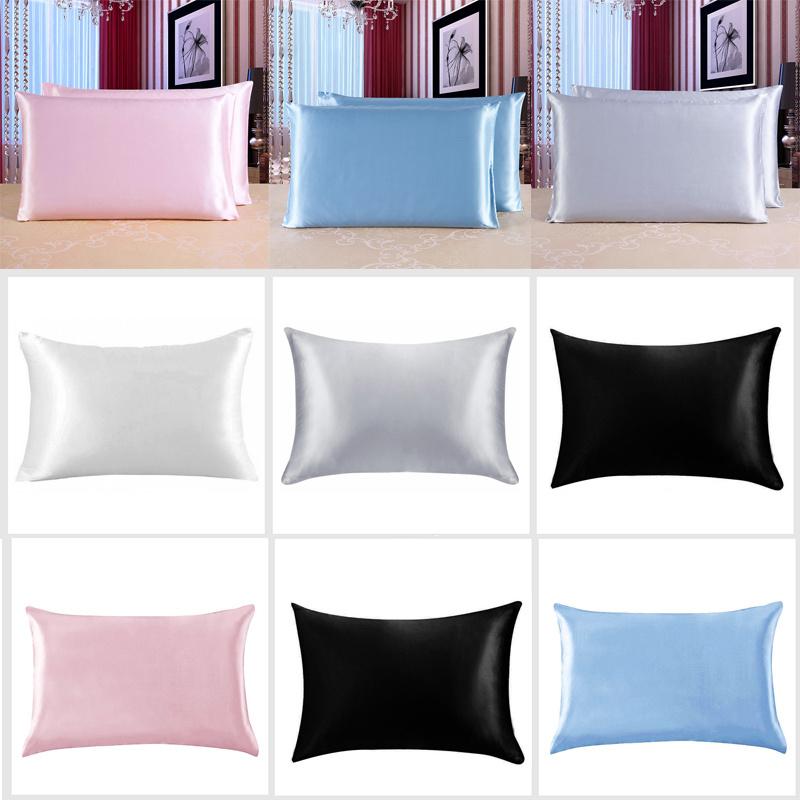 kissenbezug dekokissenbezug kissenh lle nachahmung von seide beauty haarpflege ebay. Black Bedroom Furniture Sets. Home Design Ideas