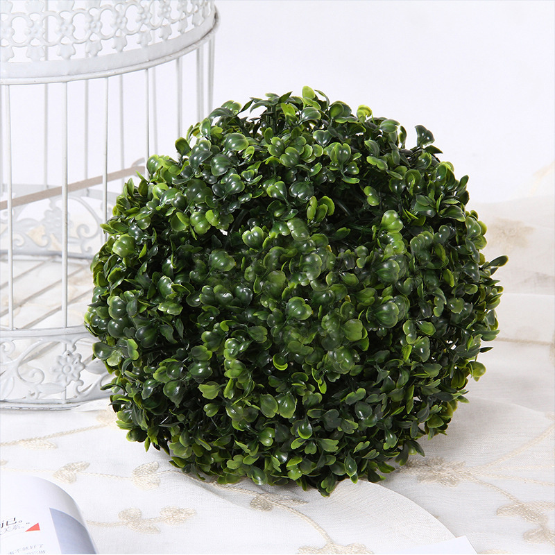 Front Door Topiary: 2 Large Artificial Green Boxwood Topiary Balls Hanging