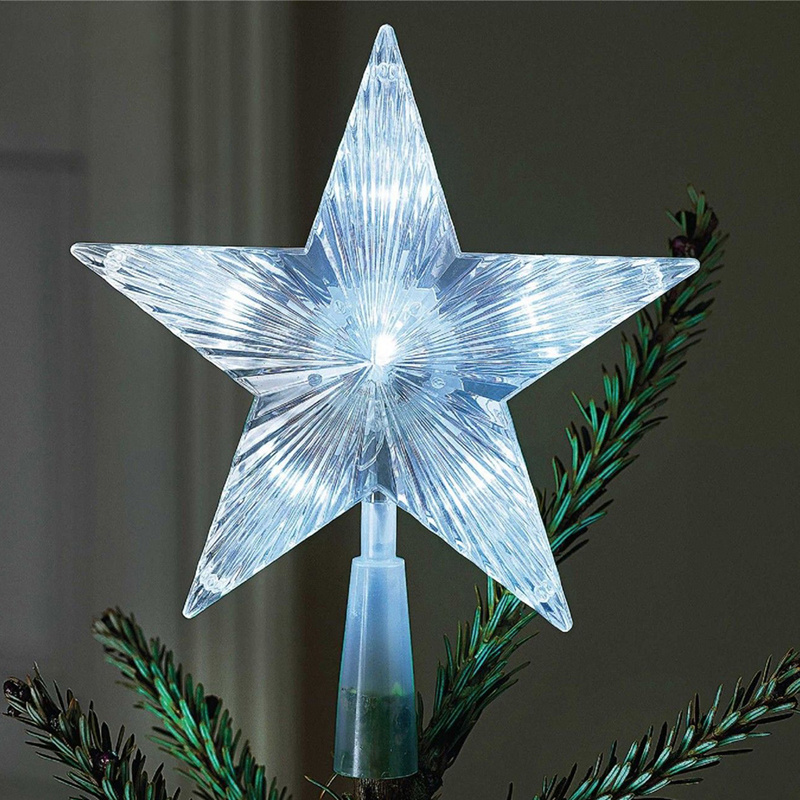 Battery Operated Outdoor Christmas Trees: Battery Operated Indoor Outdoor Xmas Christmas Tree Topper