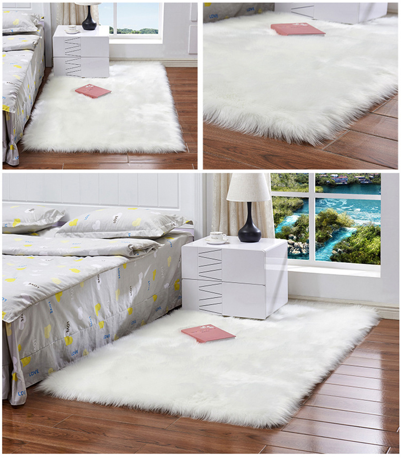Sheepskin Rug Wool Soft Faux Fur Mat